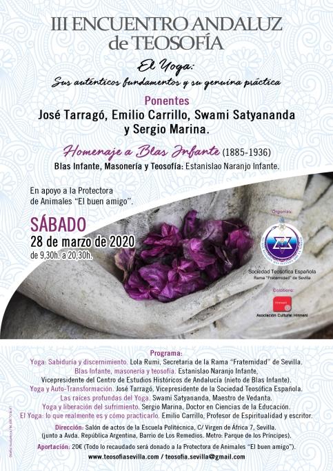 III Encuentro Andaluz de Teosofía cartel 3